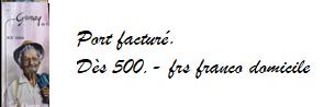 Dès 500.-frs franco domicile